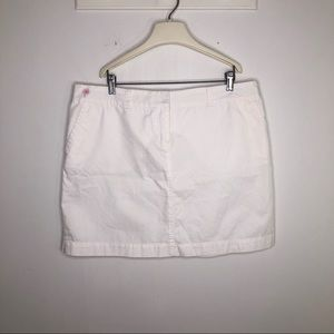 Lilly Pulitzer White Skirt Mid Thigh Solid 16